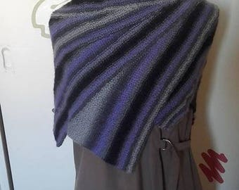 shawl, cover winspan made hand knit shoulder