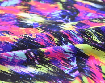 Multi Abstract - Spandex Fabric - Nylon Lycra - 4 Way Stretch - Swimwear Fabric - Activewear - Swimwear - Costume - BTY (Unstoppable)