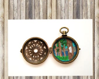 Victorian Blaze- Painted Locket