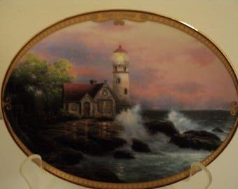 Thomas Kinkade Collector Lighthouse Plate