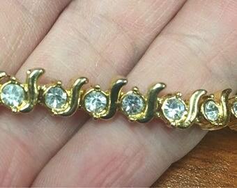 Faux Tennis Bracelet