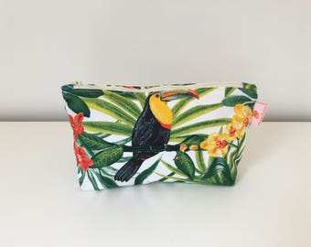 Wallet case MAYOTTE, toucan, tropical, Palm tree