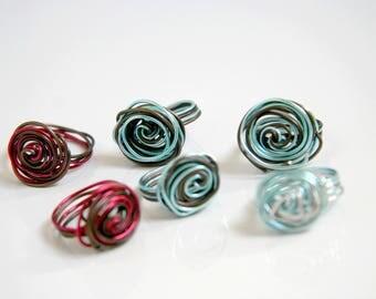 Classic flat ring customizable color options - handmade aluminium