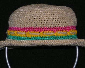 Raffia crochet kids Hat