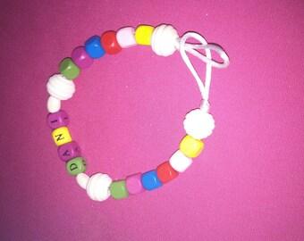 "Bracelet model ""Dani"" or pacifier clip"