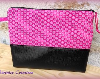 """Large flat pouch """"joyful color"""" pink"""
