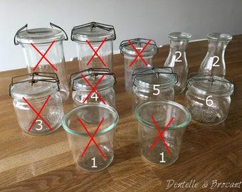 Vintage - old jars / storage jars / storage glass