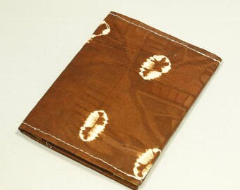 Business card holder made from African wax fabric