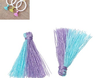 20 charms 25mm - blue/purple-SC64878 Polyester fringe tassels-