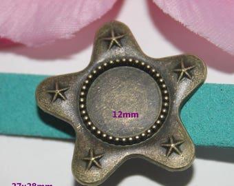 1 bandwidth Bronze Star bead 12mm - SC59077 cabochon-
