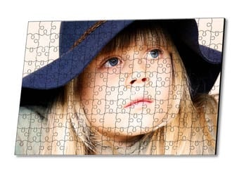 Personalization with photo 30 wooden puzzle pieces
