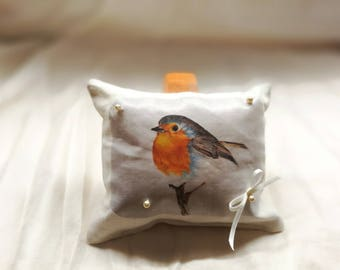 Home decor - Robin bird pillow