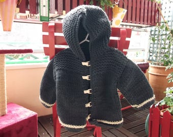 jacket knitted boy Navy.