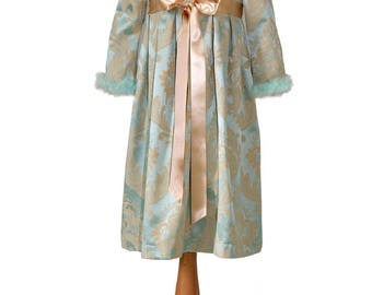 Blue damask girl costume