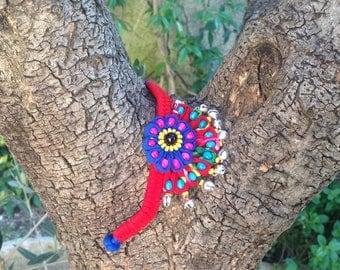 Sichuan, fan shape bracelet, bells