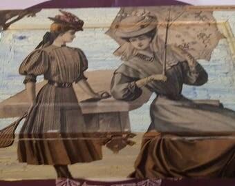 Large box beads N 525 1900s fashion prints