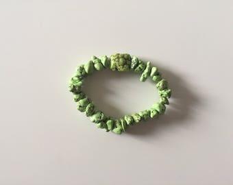 Green Rock Beaded Bracelet