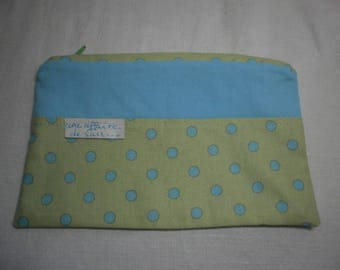 Pouch with polka dots