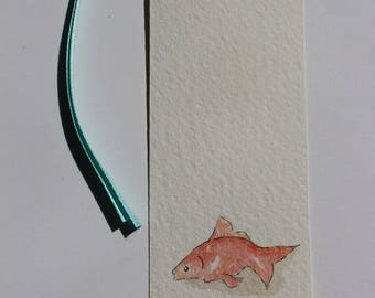 bookmark or gift tags with Goldfish