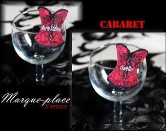 Place card cabaret corset