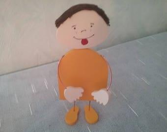 Decorative figure of little Max wood