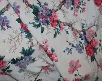 antique floral linen