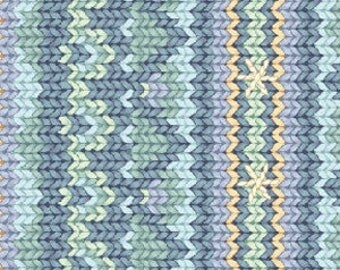 Patchwork fabric Benartex - Snow Show - effect knitted collection - coupon 50 by 110cm