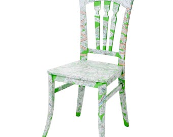 Pop Art Decoupage Chair - Fabulous Footpath Chair