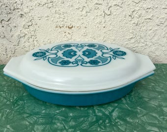 Pyrex Horizon Blue 1 1/2 Quart Double Sided Baking Dish