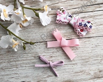 Dainty headbands, newborn headbands, hair bows,