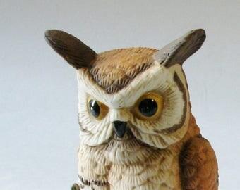 Vintage Owl Figurine, Lefton Owl, Home Decor, Owl Collectors, Bird Lovers
