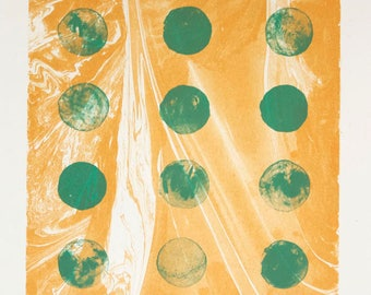 Ananda (Gold and Green) – Fine Art Lithograph