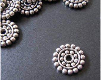 Spacer antique silver metal