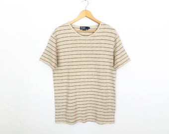 Polo Ralph Lauren Vintage Striped T-Shirt Made In Usa