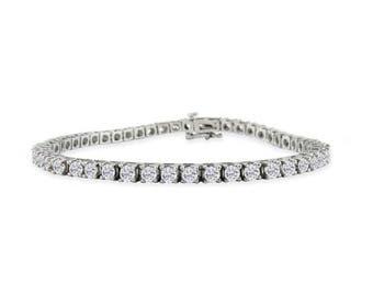 Classic Tennis Bracelet Gold 14K - 18K +6.50 Carat diamond