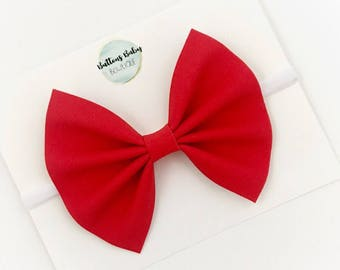 Red Hair Bow, Red Headband, Red Baby Bow, Red Sparkle Bow, Red Glitter Bow, Red Baby Headband, Red Shimmer Bow, READY TO SHIP