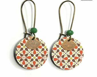 Vintage pattern earrings