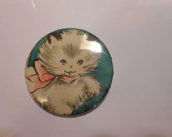 Kitten 2/14 pinback badge button.