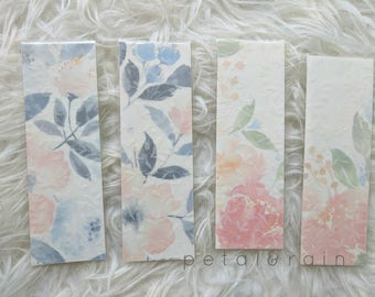 Watercolor Floral Bookmarks (Pack of 4)