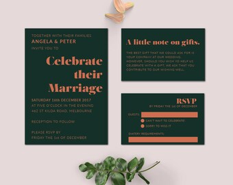 Wedding Invite Design | Digital Download Wedding Invitation | Wedding invitations | Wedding Invites | SAMARA SUITE