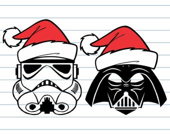 Star wars SVG, Christmas svg, Star wars christmas Svg, Darth Vader svg, Santa hat svg, Star wars cricut, Storm Trooper svg, Christmas cricut