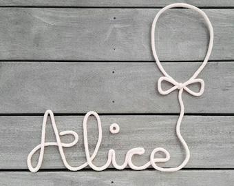 My knitting initials + my beautiful balloon