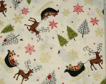 Fabric patchwork - Makower - Christmas 2014 - 03