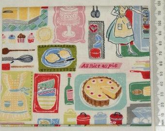 Fabric - Retro Bake 04 - Makower kitchen vintage