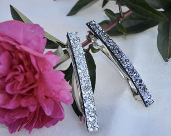 big silver glitter bow