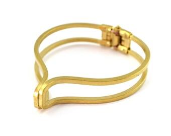 Cuff Golden brass 5.3 cm