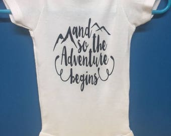 And So The Adventure Begins Onesie