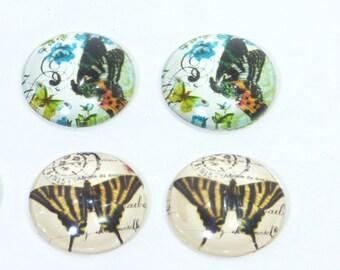 Cabochon 20 MM Butterfly pattern