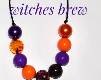 Witches brew chunky bead adjustable necklace