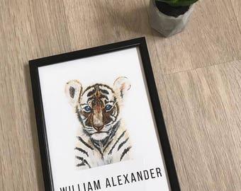A4 Lion Cub Print